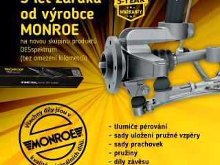 Nabídka podvozkových dílů MONROE